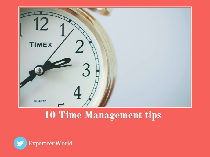 10 time management tips for senior managers