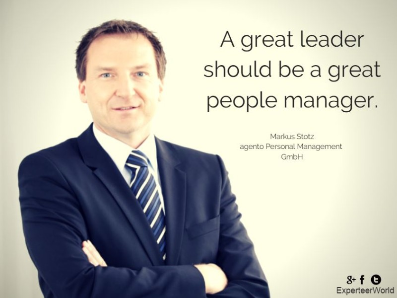 Great leaders are great people managers.