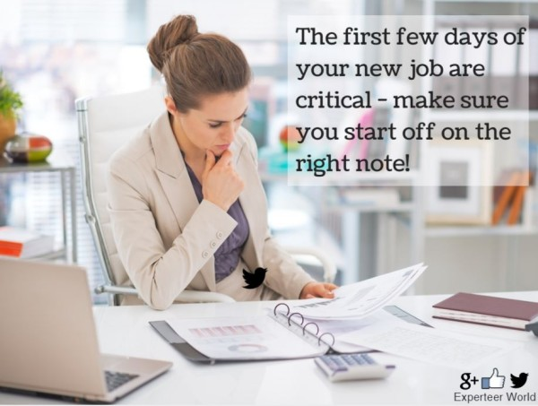 6 Tips for Settling Into Your New Job text