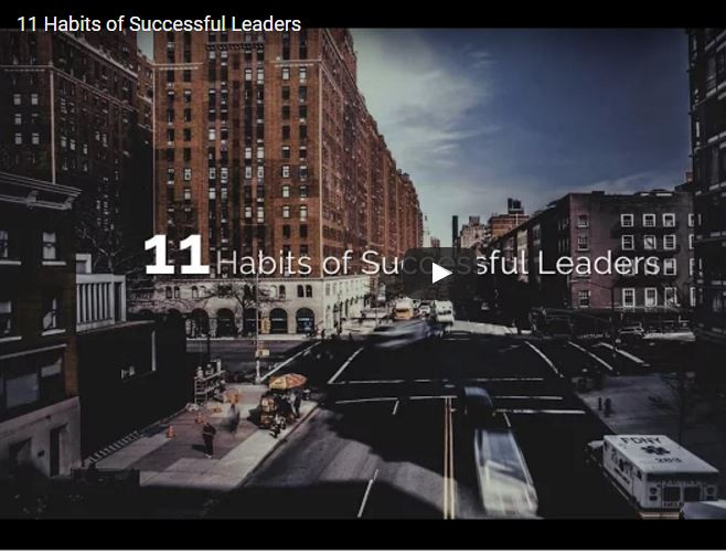 11 Habits of Successful Leaders video