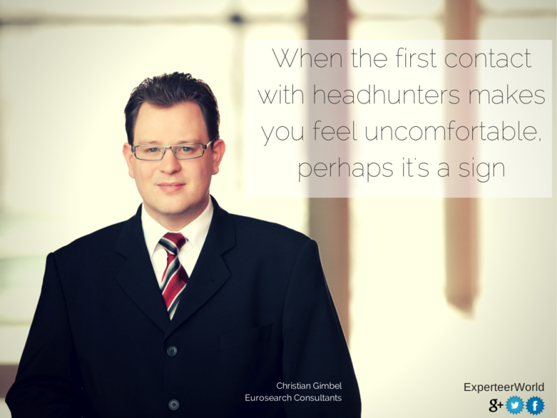 Contact with headhunters