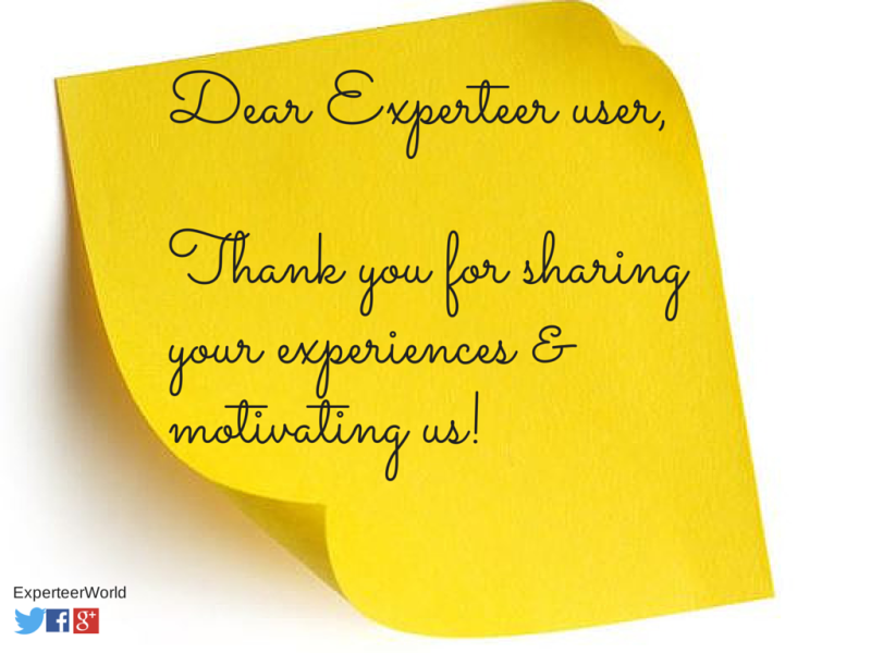Experteer review customer service thank you