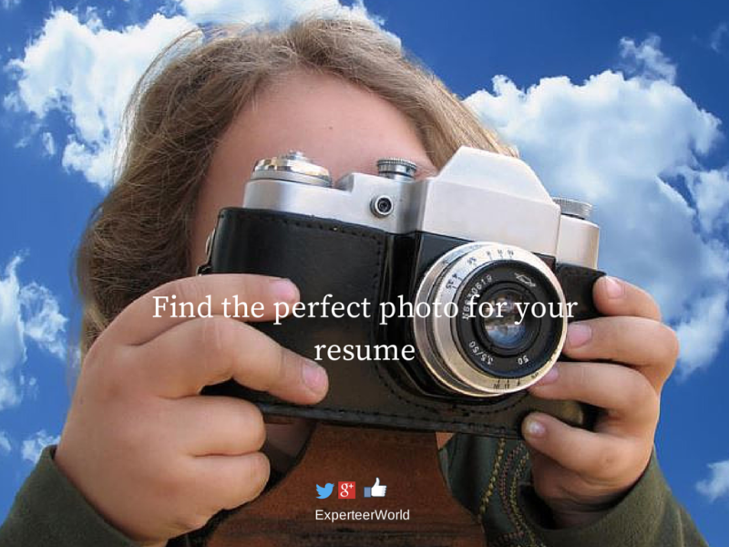 find the perfect photo for your resume