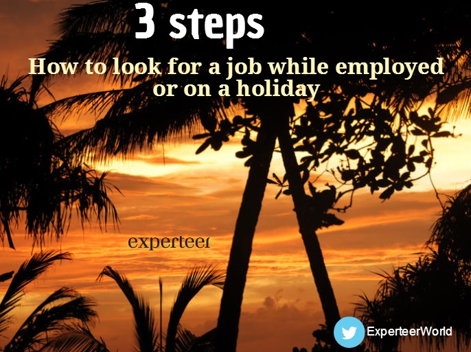 how to find a job while employed