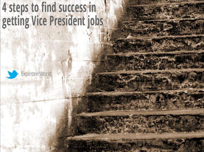 steps for reaching vice president jobs
