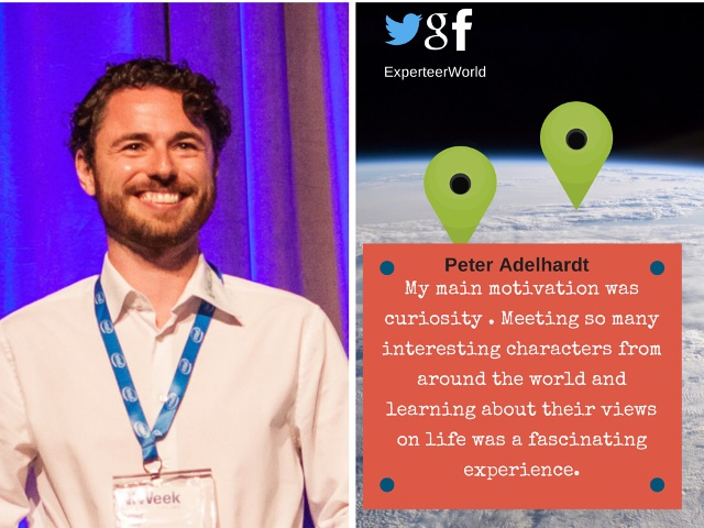 what was your first work abroad experience like peter adelhardt