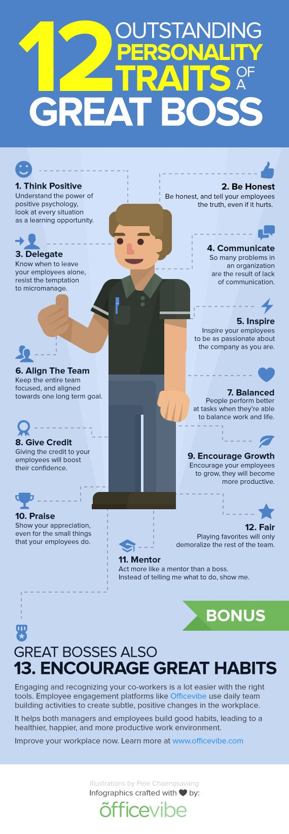 12 outstanding traits of a great boss