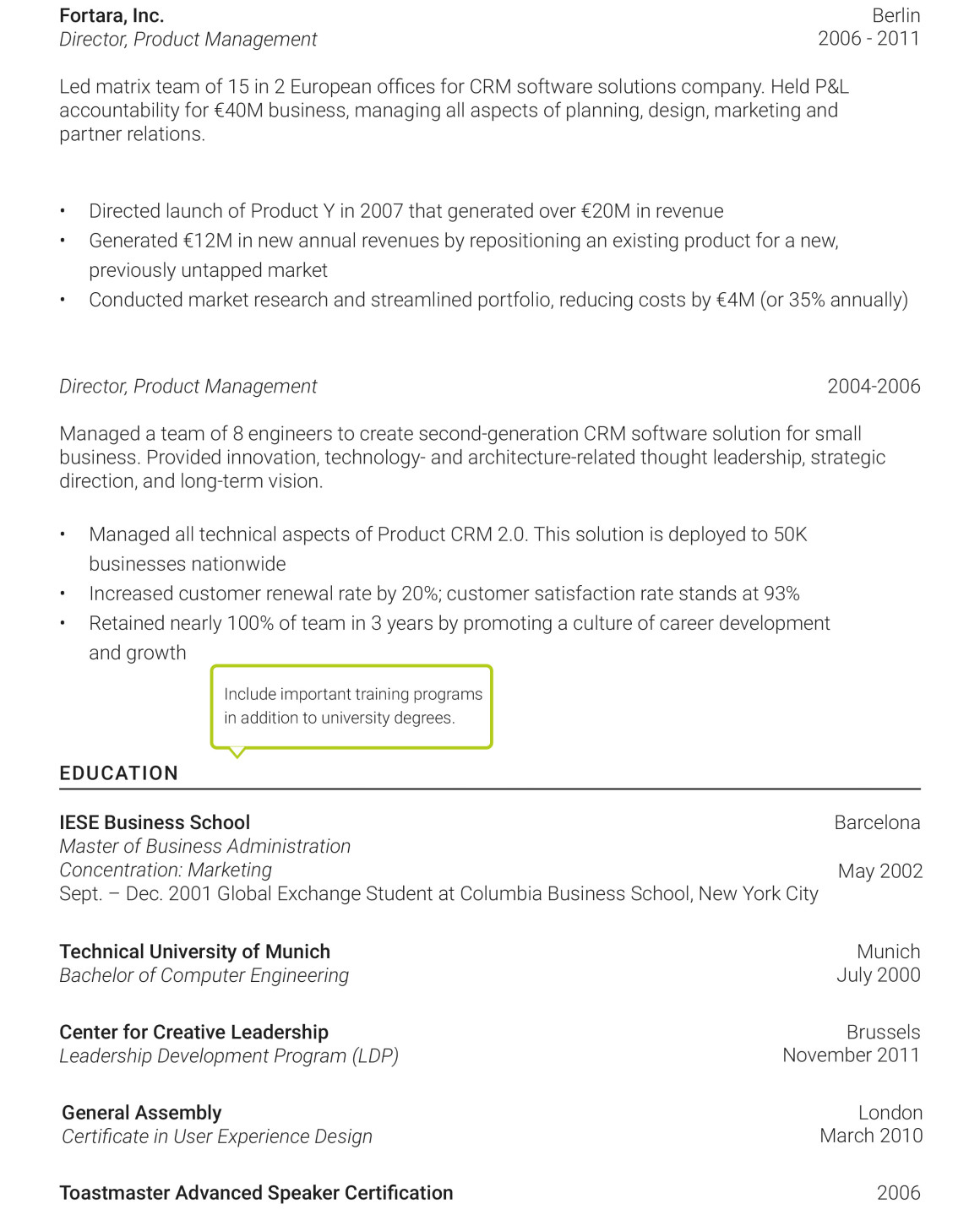 how to put international work experience on resume