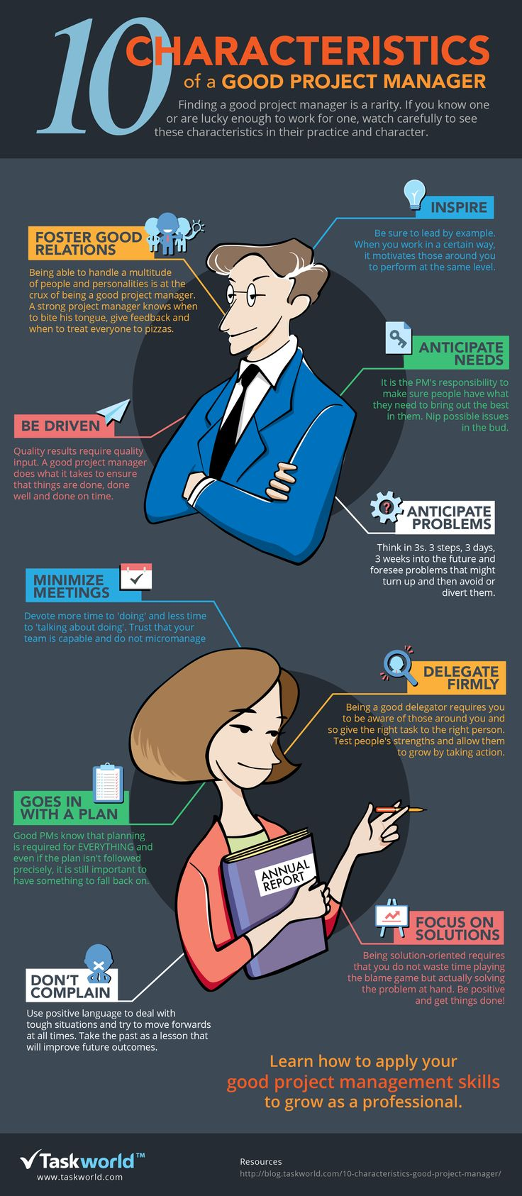 characteristics of a good project manager