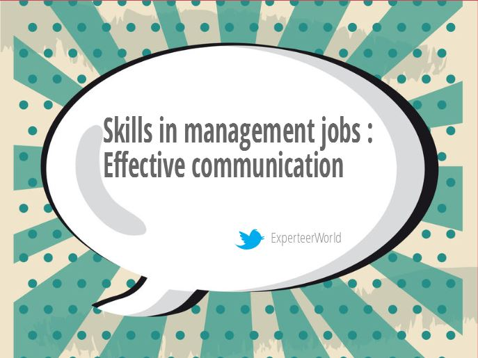 skills in management jobs effective communication