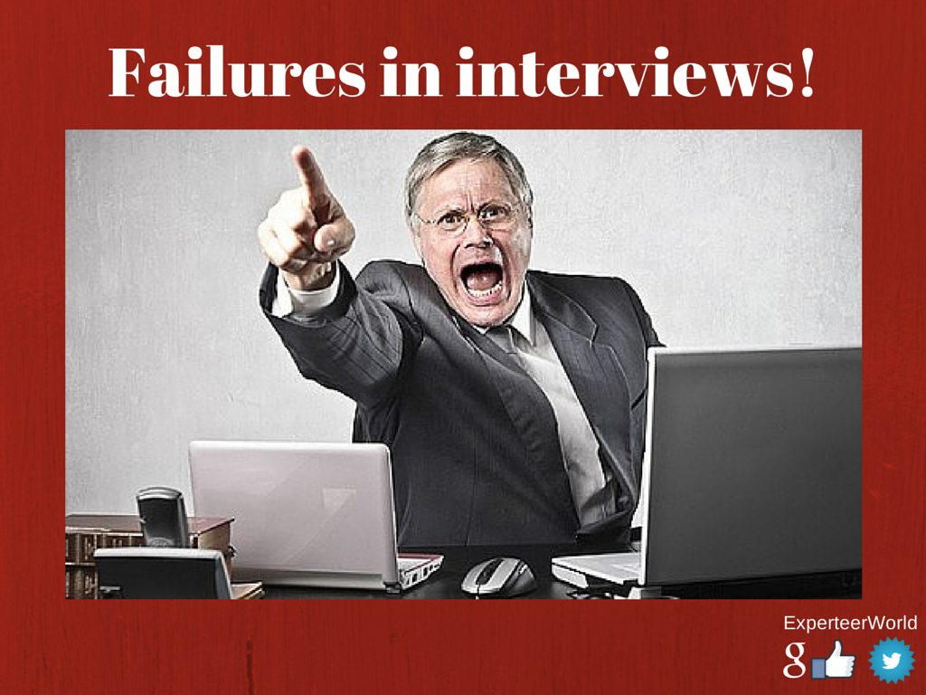 top failures in interviews for management jobs